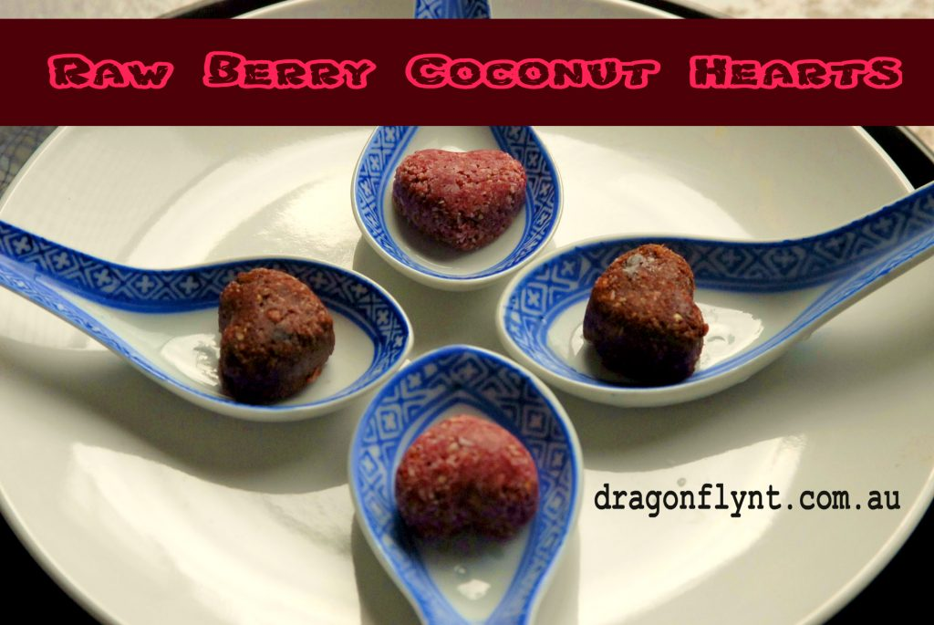 Raw Berry Coconut Hearts