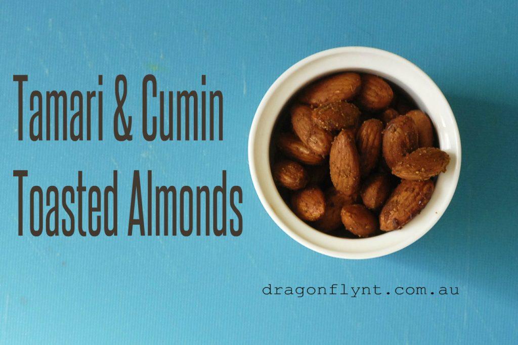 tamari & cumin toasted almonds