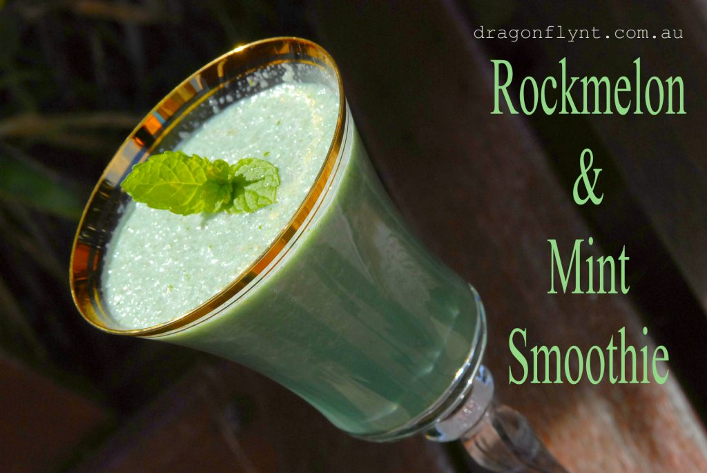 Rockmelon and mint smoothie