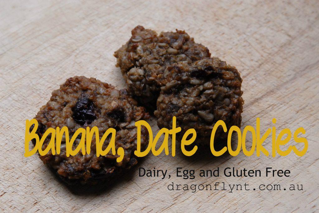 Banana date cookies