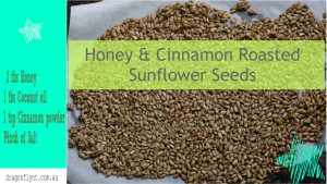Honey and cinnmaon roasted sunflower seeds