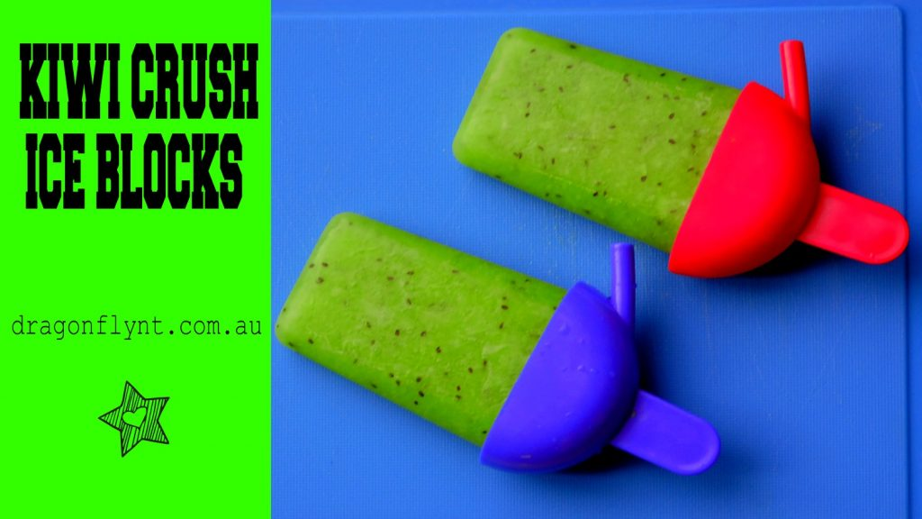 Kiwi crush ice block